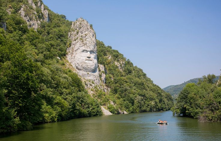 Dacia - Decebal - Danube River - Statue - Romania