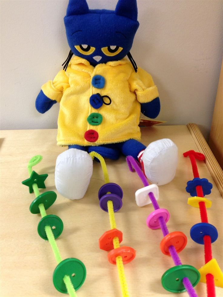 Pete the Cat Button Sticks