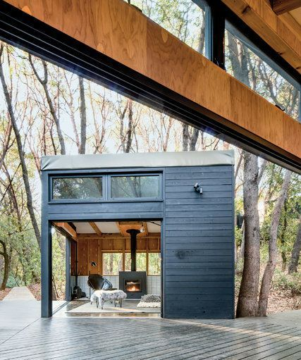 In a radically conceptual family retreat in Northern California.