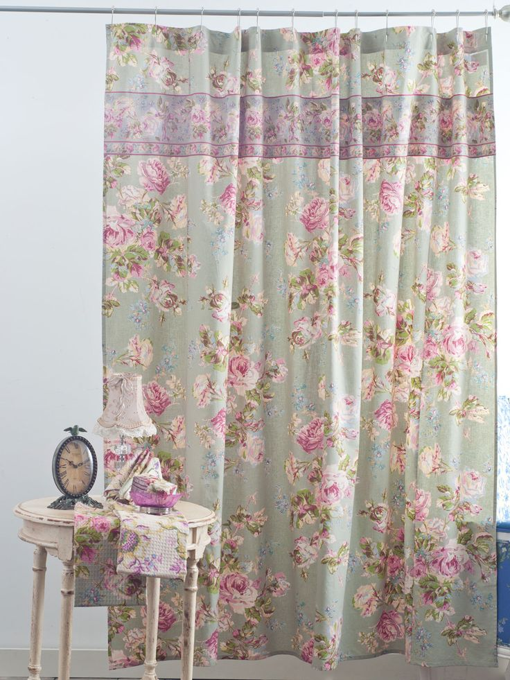 Victorian Rose Shower Curtain | Your Home, Curtains :Beautiful Designs by April Cornell