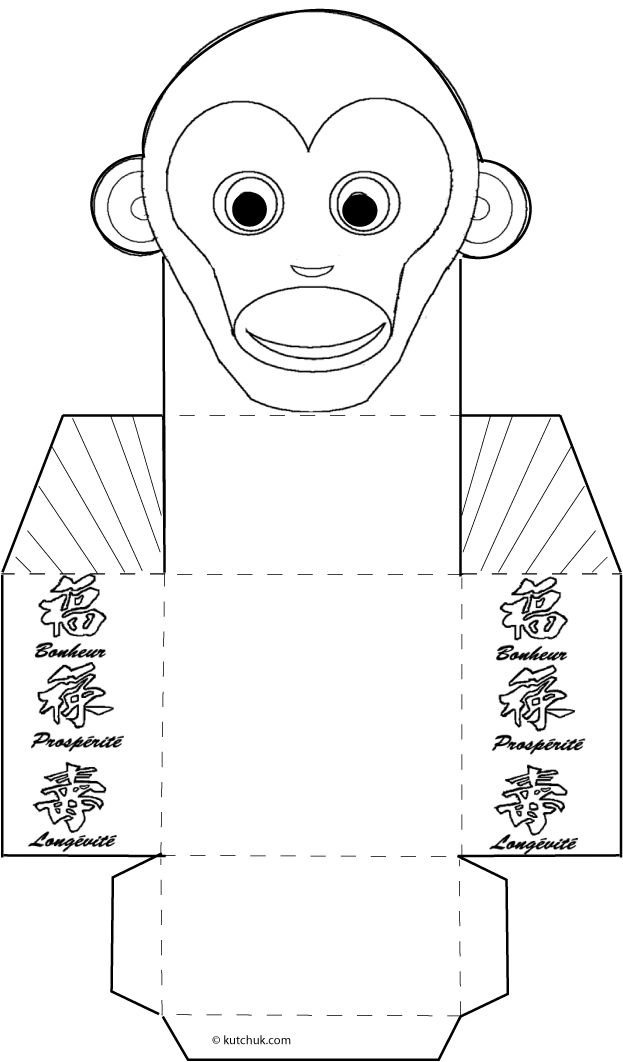 A chinese new year craft tutorial, build chinese zodiac paper boxes instead of lucky money envelopes, monkey