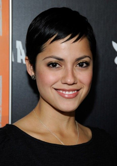 Most popular short haircut this year: the pixie cut. Who's that beautiful Pixie at the premiere of Haywire with actor Johnny Whitworth? Her name is Sylvia Brindis, but that's about all we know. Who ever said that blondes have more fun! Tell them to think again! Actress Sylvie Brindis' hair is as black and shiny[Read the Rest]