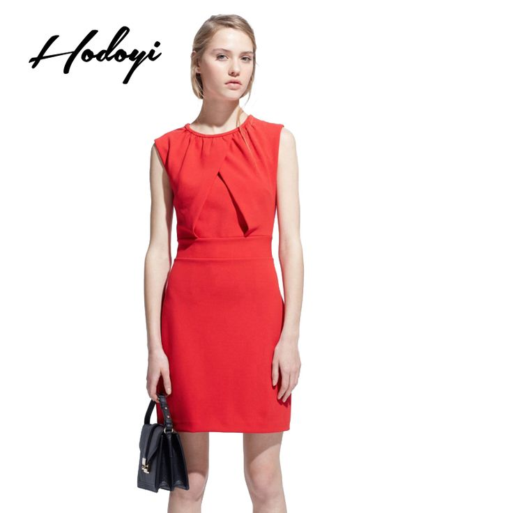 >> Click to Buy << Hodoyi 2017 Summer Bodycon Dress Sexy Front Ruffle Chic Female Vestido Sleeveless Zipper Slim Mini Dress Women Clothing #Affiliate
