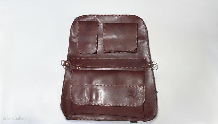 Rucsac din piele realizat manual #handmade #leather #bag