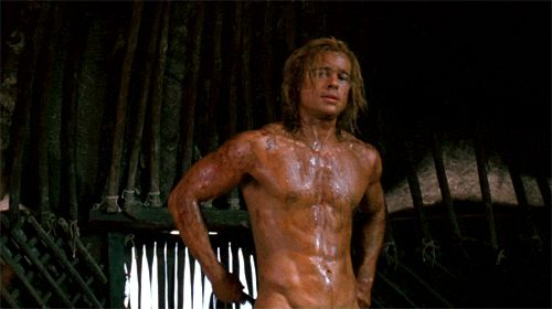 Brad Pitt any time, but especially in Troy. Hot DAYUM.