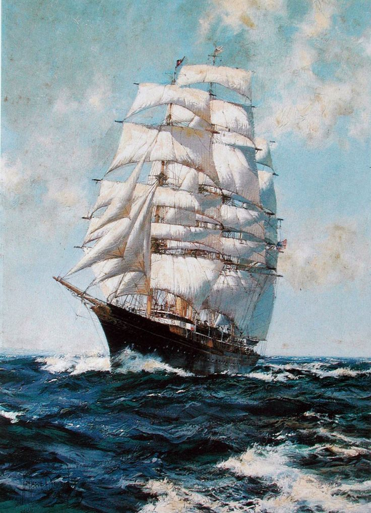 The Crest of A Wave by Montague Dawson