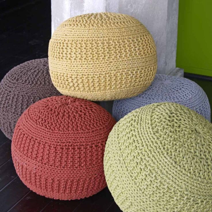 Knitted Poufs $118