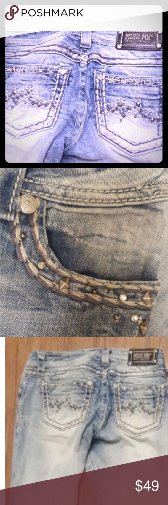 💋New HOT MISS ME BLING BOOTY JEANS LIGHT DENIM 27 New 💋HOT MISS ME BLING BOOTY JEANS LIGHT DENIM SZ 27. Rare find. So comfy & sexy!!! Does wonders for The rear end. You will love those. NWOT Miss Me Jeans Boot Cut