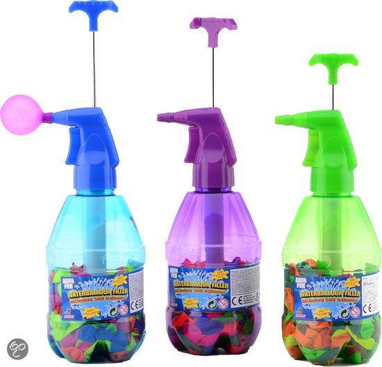 Aquafun Waterballonvuller + 250 Neon Waterbommen