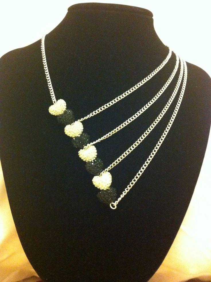 Silver Black Asymmetrical Necklace Design Inspiration