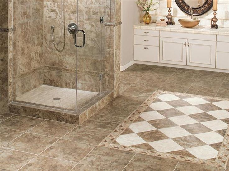Beautiful Two Tone Tile Floor Tiles For Bathroomsbathroom