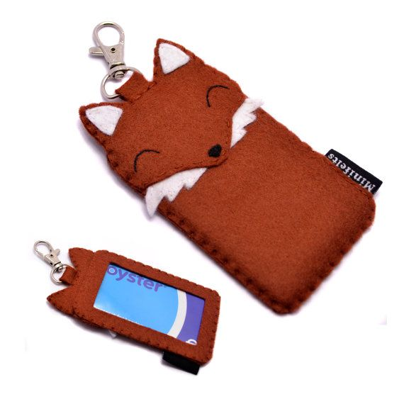 Fox Card Wallet Oyster Card Travel Card Holder - ID Card Bus Pass Subway Train Card Holder on Etsy, $25.62