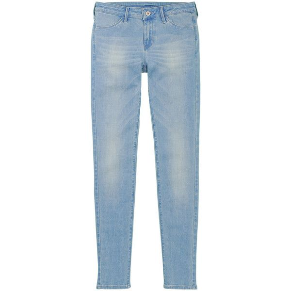 UNIQLO Women Ultra Stretch Jeans (13 AUD) ❤ liked on Polyvore featuring jeans, pants, bottoms, clothes - pants, faded jeans, uniqlo, stretch blue jeans, uniqlo jeans and super stretch jeans