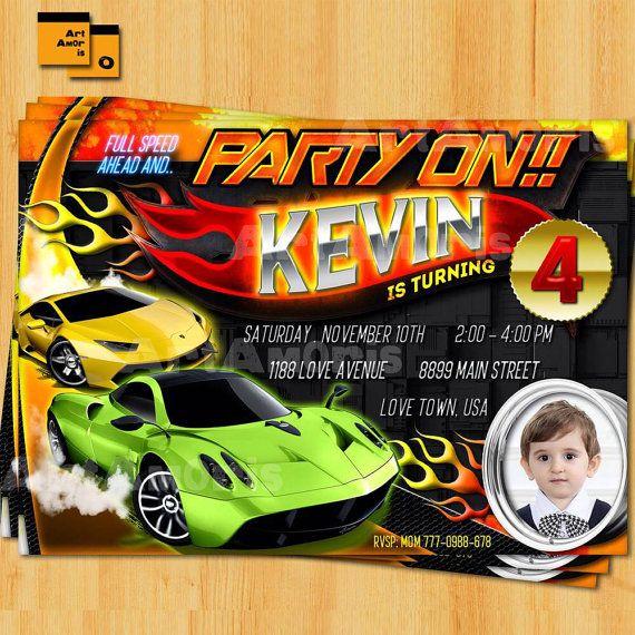 The Best Cars Invitation Ideas On Pinterest Disney Cars - Hot wheels birthday invitation how to make