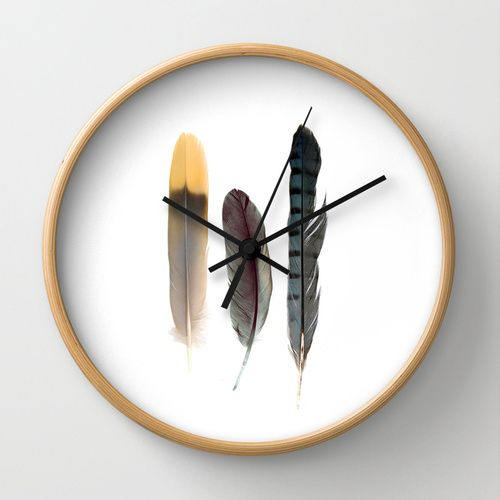 Feathers Clock http://www.cloudninecreative.co.nz/collections/clocks