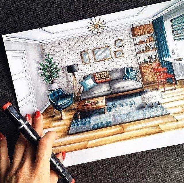 Interior Design Sketches