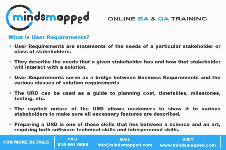 What Are User Requirements  Business Analysis
