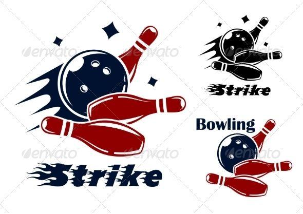 Bowling ball logo