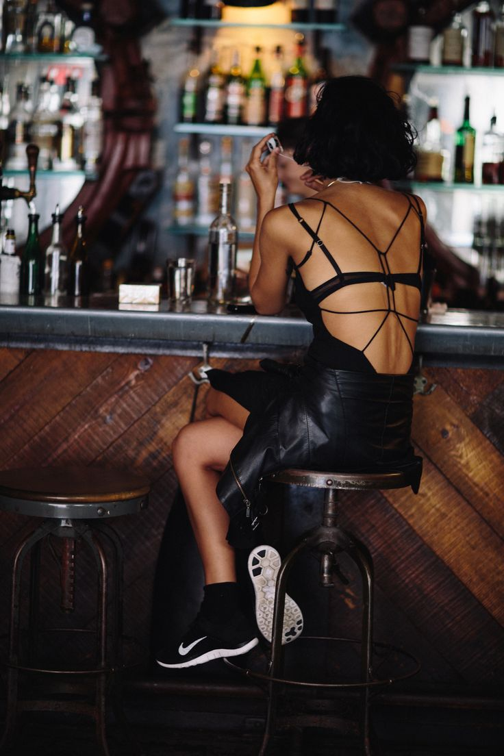 Rock 'n' Roll Style ✯ By The Bar in All Black — william yan