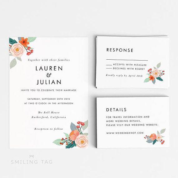 wedding invitation printable