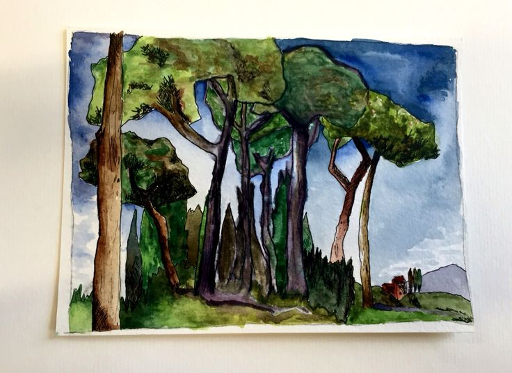 Tuscany #watercolour