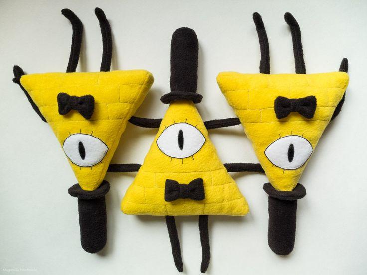handmade Bill Cipher plush toy. Gravity Falls.