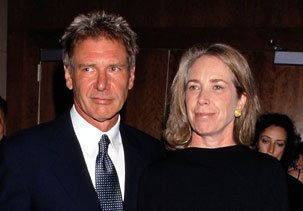 Image: Harrison Ford & Melissa Mathison in 1998...   you know you ve been together too long when..you start to look like twins...