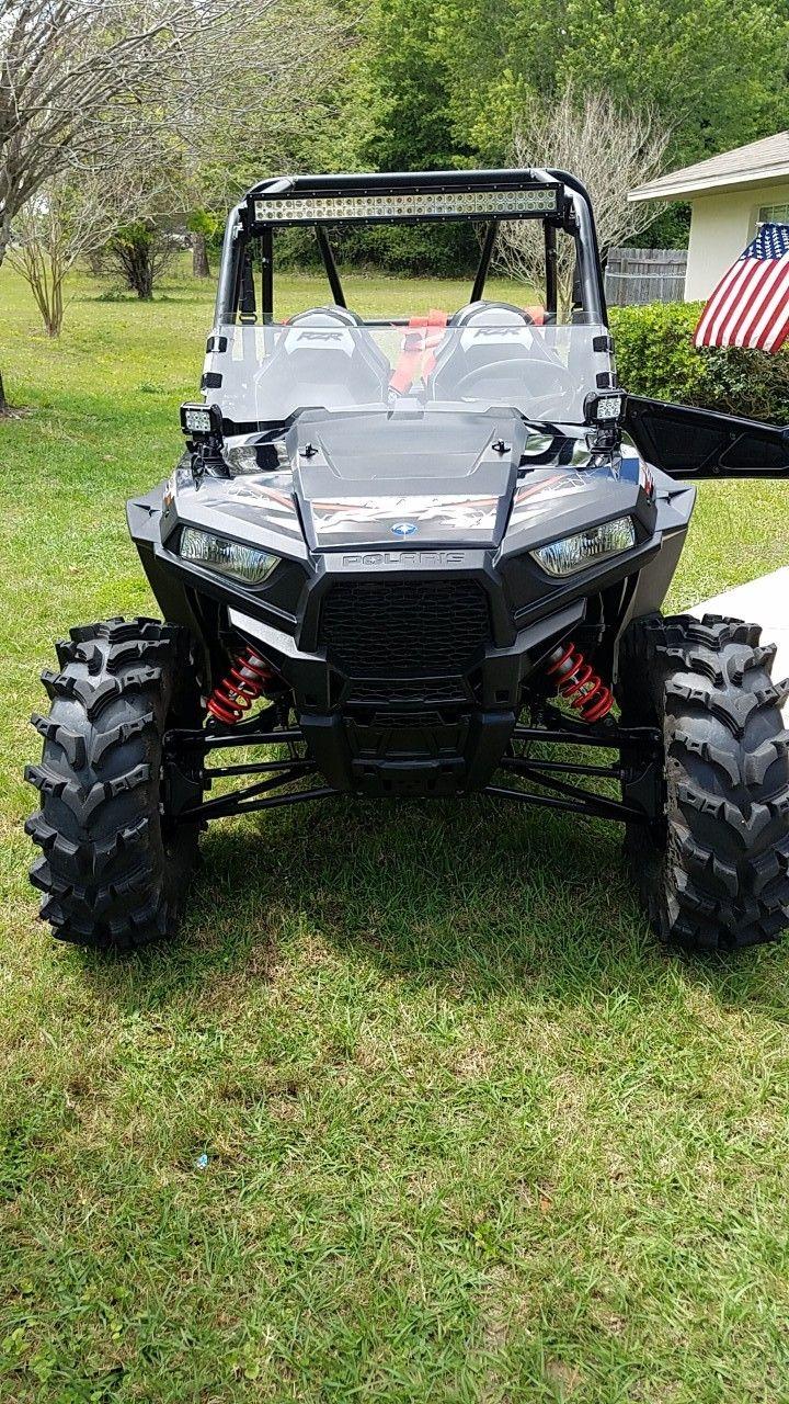 "Used 2017 Polaris RZR 4 900 EPS ATVs For Sale in Florida. <b>2017 Ploaris RZR 4 900 EPS</b><ul><li>Has 40 hours. Has had one service done to it already. Still under manfactory warranty.</li><li>Added 14"" STI wheels with 32"" Outback tires</li><li>All seats have 4 point harnesses</li><li>8 rock lights allthe way around( interior &exterior )</li><li>28"" light bar with 2 ledpods. </li></ul>"