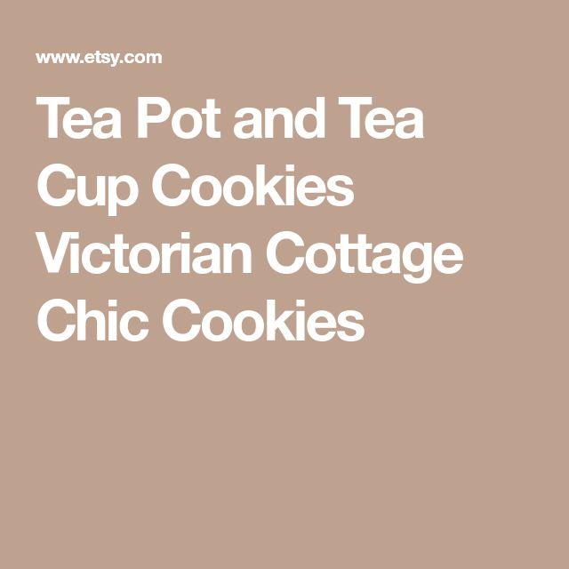 Tea Pot and Tea Cup Cookies Victorian Cottage Chic Cookies