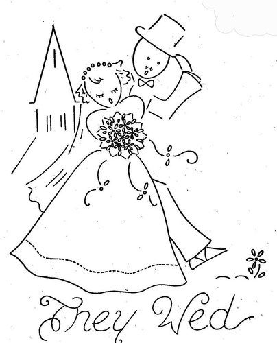 Hand Embroidery Pattern 3062 Gay Nineties Romance for Tea Towels 40s
