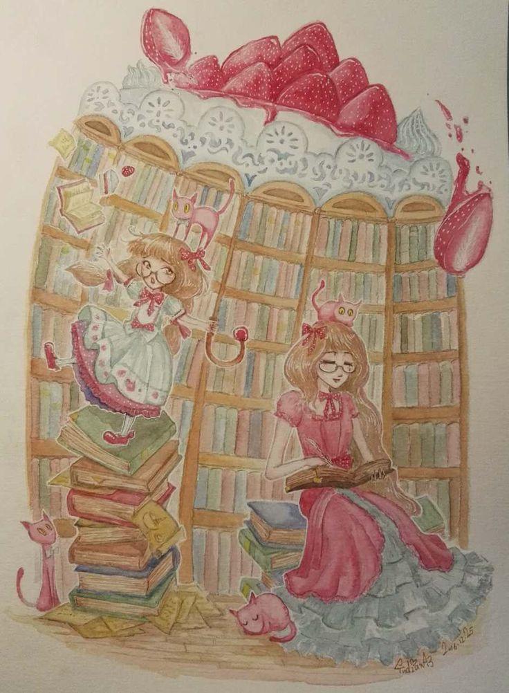 Strawberry Cake  watercolor