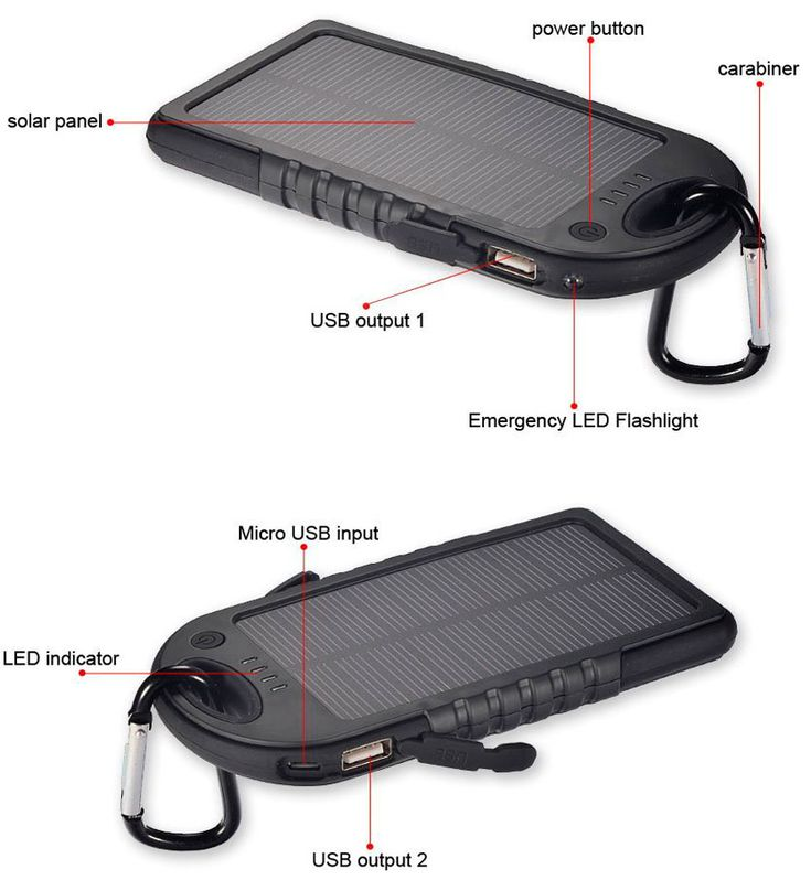Solar Charger Power Bank 5000mAh. #solarcharger #charger