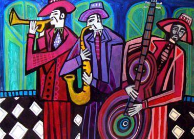 60% Off- New Orleans Art Jazz Musicians Art Print Art Print Poster by Heather Galler (HG713)