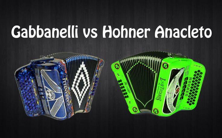 Gabbanelli 2tonos vs Hohner Anacleto 2tonos. Review. Acordeones. Accordion.