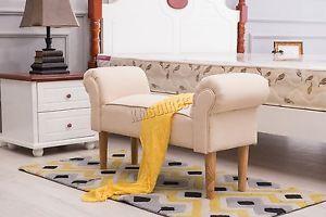 FoxHunter-Fabric-Bench-Footstool-Seat-Pouf-Pouffee-Ottoman-Stool-Bedroom-Cream