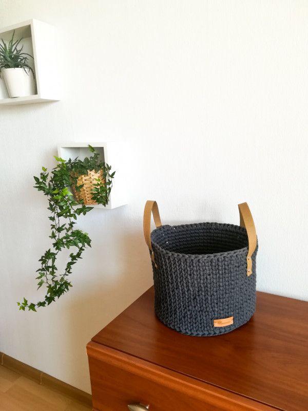 Kosz Plazowy Koszyk Ze Sznurka Bawelnianego Decor Home Decor Planter Pots