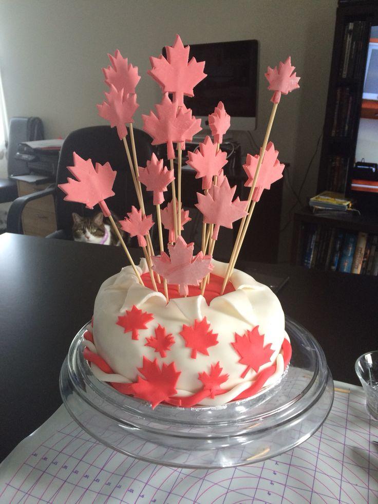 Gâteaux fête du Canada ;)