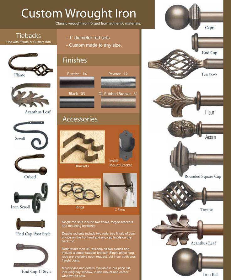 49 best custom curtain rods images on pinterest curtain rods custom curtains and drapery rods. Black Bedroom Furniture Sets. Home Design Ideas