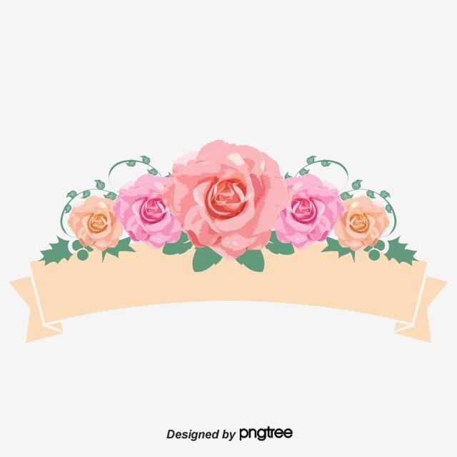 Ribbon Gratis Png Y Vector Logo Bunga Poster Bunga Bingkai Bunga