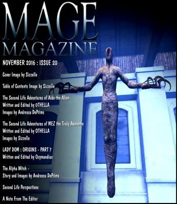 The Table of Contents for MAGE Magazine Issue 20 - image by Sizzelle