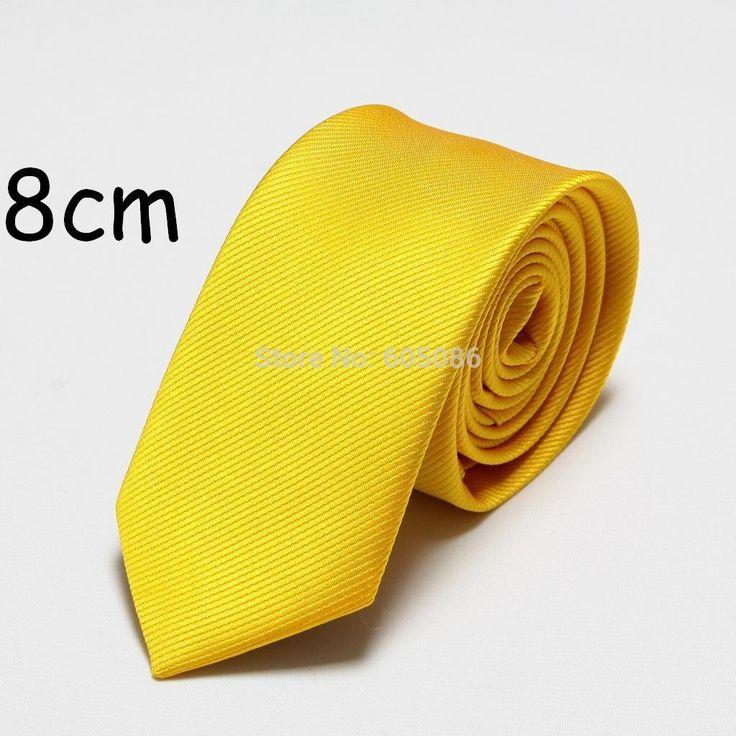 1.87$  Watch now - solid polyester fashion men's tie dress neck ties for men cravat 8cm width   #shopstyle