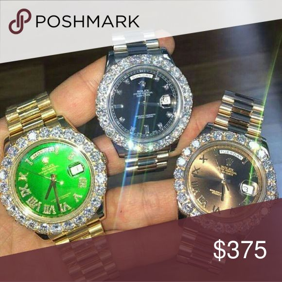 Rolex Datejust 36mm iced dail Brand New Dead stock Box tags included ICED OUT VVS CLARITY DANCES PRICED TO SELL MAKE OFFERS THANKS  AVAILABLE                             TE,XT.   ---(217)))850(((2396))) FOR ALL OFFERS Rolex Accessories Watches