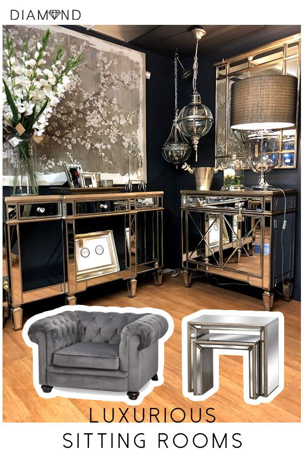Whether You Call It The Lounge Living Room Or Sitting Room These Mirrored Cabinets Will Bring Sophistication To Your L House Interior Mirrored Furniture Home