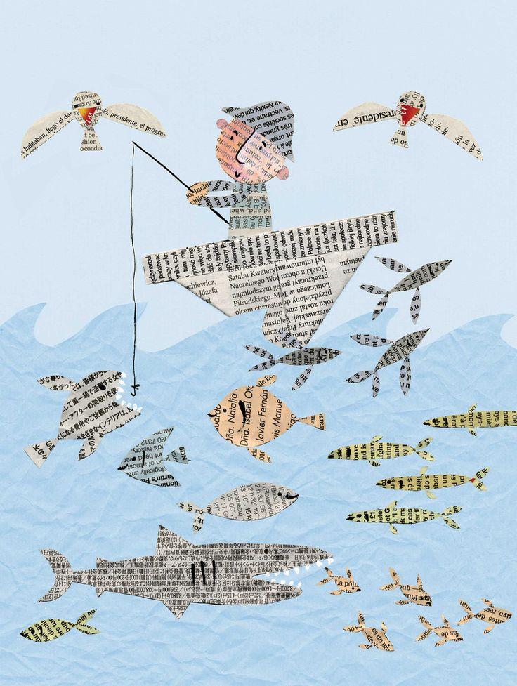 newspaper-fish2 | By Stella Baggott
