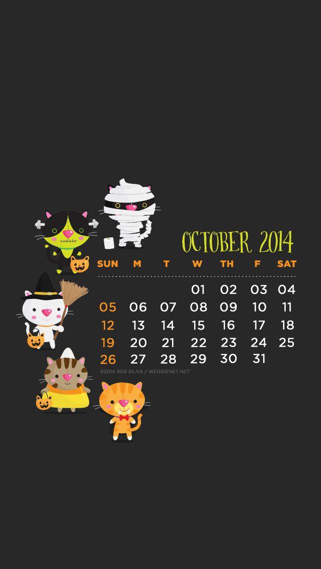 October Calendar Wallpaper Iphone : Best images about calendars on pinterest iphone