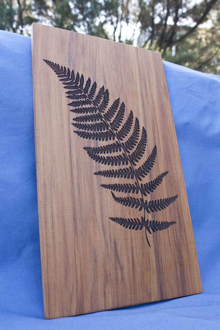 Fern reclaimed wood wall art - $70