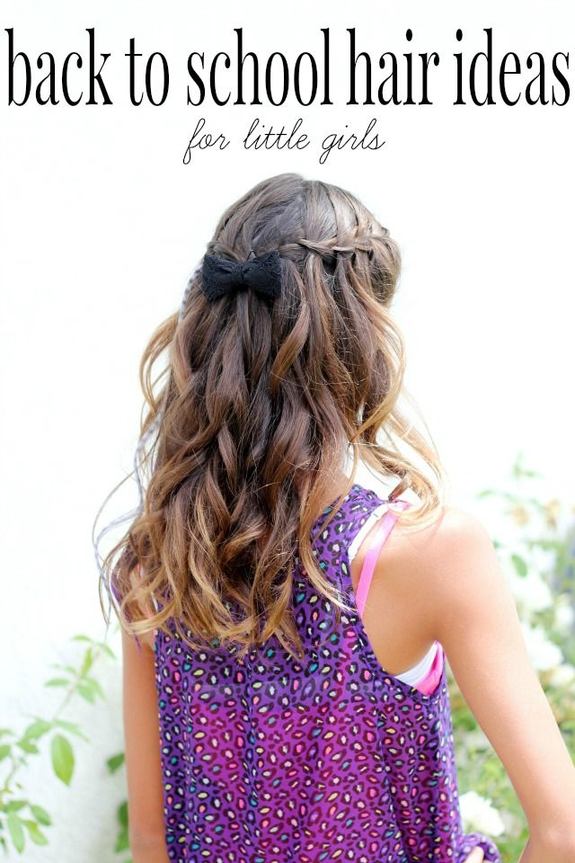 back to school hair ideas for young girls. So easy you or your daughter can do them!