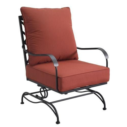 Style Selections San Terra Set Of 2 Black Metal Frame Spring Motion Conversation Chair S With Red Slat Seat Lowes Com Metal Spring Black Metal Frame Chair