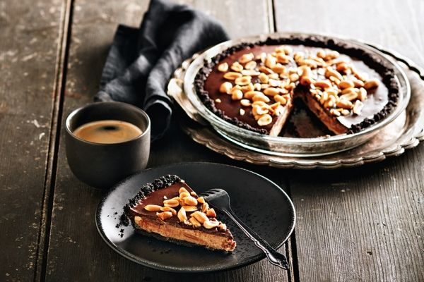This luscious double-chocolate peanut butter pie combines the flavours of chocolate cream pie and peanut butter cups. How can you go wrong? Photo by Ronald Tsang.