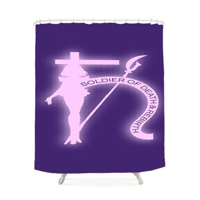 Sailor Saturn Symbol Shower Curtain